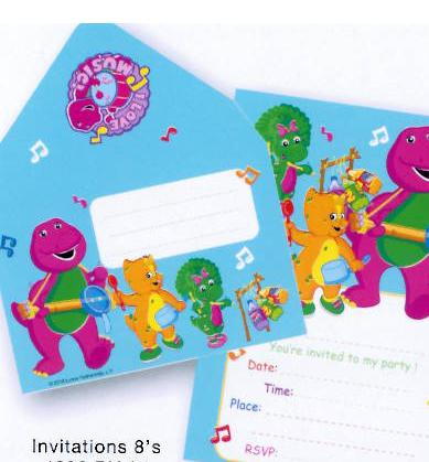 Barney Mini Hand Out Invitations (20 available)