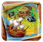 Buried Treasure Pirate Round Dinner Plates