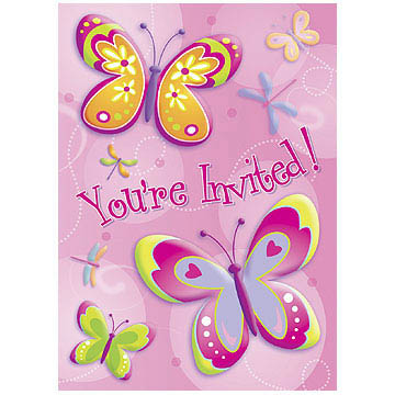 Butter/Dragonfly Invitations