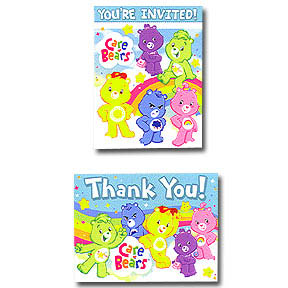 Care Bear Invitations