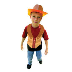 Cowboy, Kids Party Favour vests