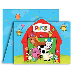 EIEIO Farm Animals Invitations (7 available)