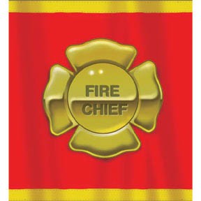 Fire Fighter Plastic Tablecloth 137cm - 240cm