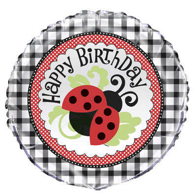 Ladybug Mylar Balloon