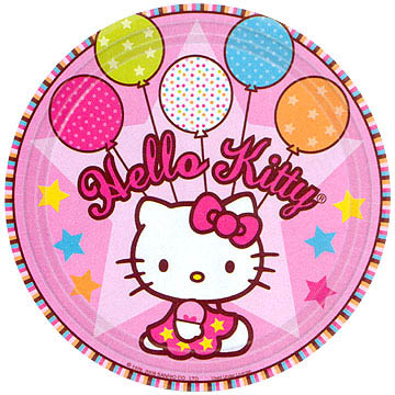 Hello Kitty Plates 22.5cm