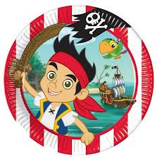 Jake And The Neverland Pirates Round Dinner Plates