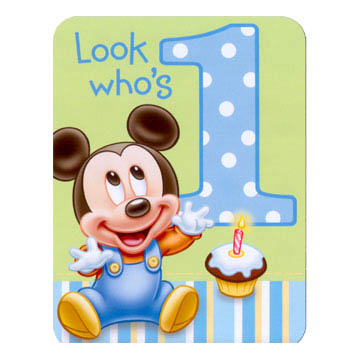 1st Birthday Mickey Mouse - Invitations