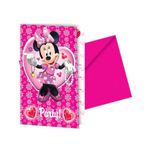 Minnie Mouse - Invitations