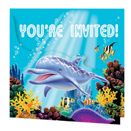 Oceans Party Invitations