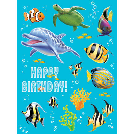 Oceans Party Stickers