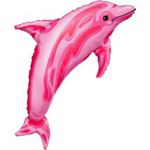 Pink Dolphin Supershape Mylar Balloon