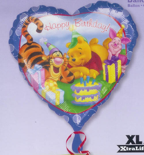 Pooh Fun Celebration Mylar Balloon - 45cm
