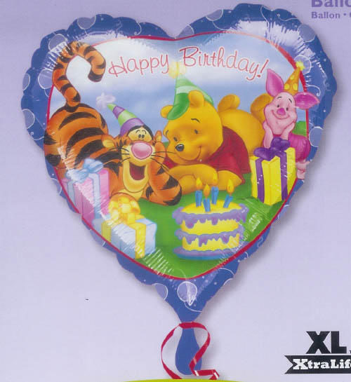 Pooh Fun Celebration Mylar Balloon - 45cm