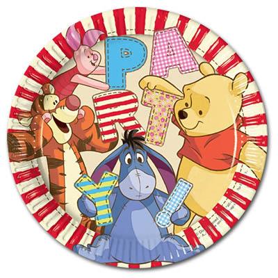 Pooh Alphabet Plates 22.50cm