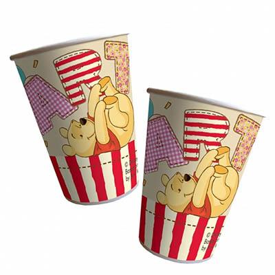 Pooh Alphabet Cups
