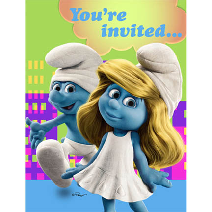 Smurfs Invitations (3 available)