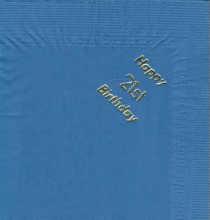 Serviettes - Red - Happy 30th Birthday - Gold