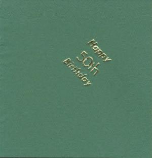Serviettes - White - Happy 50th Birthday - Gold