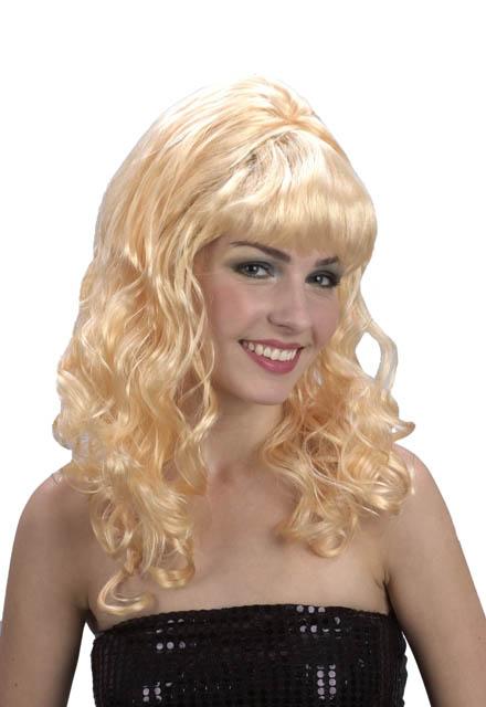 Curly Medium Blonde wig