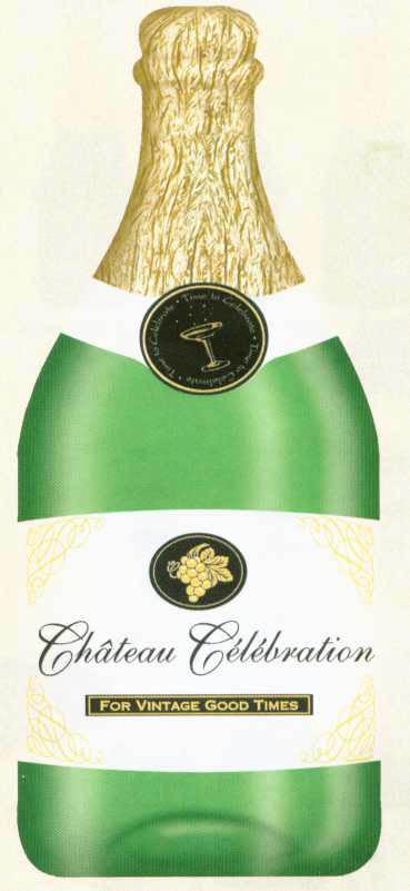 Champagne Bottle Cutout - 25cm * 61cm