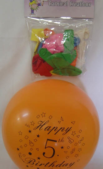 Standard - Happy 5th Birthday - Assorted colours