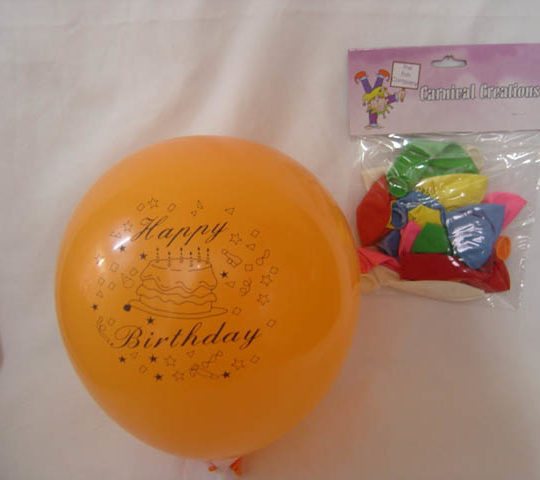 Standard - Happy Birthday - Assorted Colours