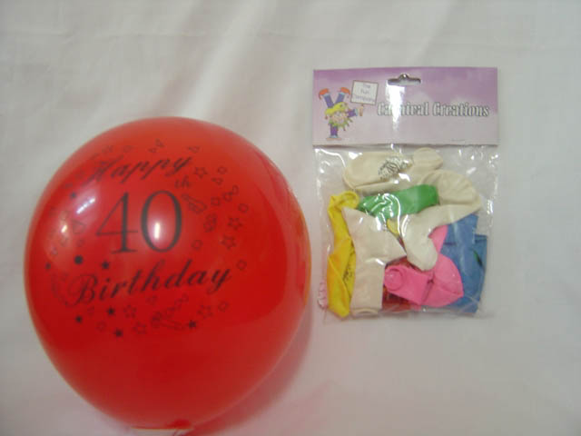 Standard - Happy 40th Birthday - Assorted colours