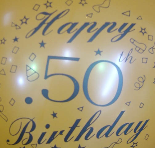 Standard - Happy 50th Birthday - Assorted colours
