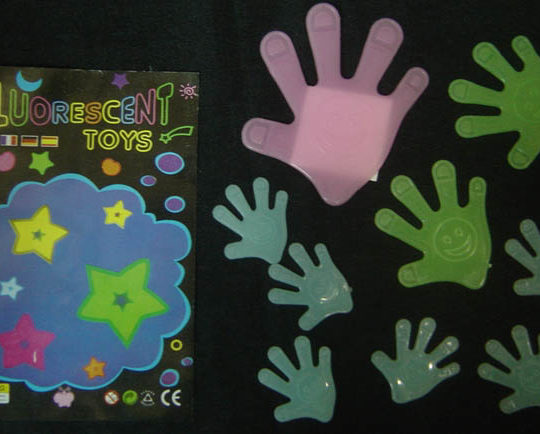 Glow in the Dark - Baby Hands - Blue/Green