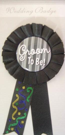 Rosette - 8cm Black - Groom