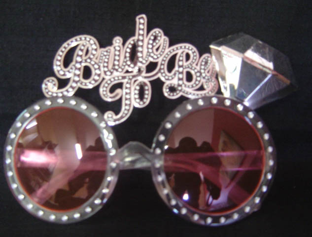 Glasses - Bride to be - pink with Glitter