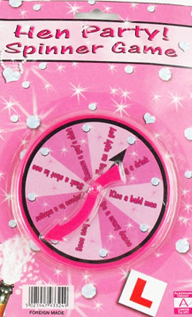 Hens Party Spinner game - plastic