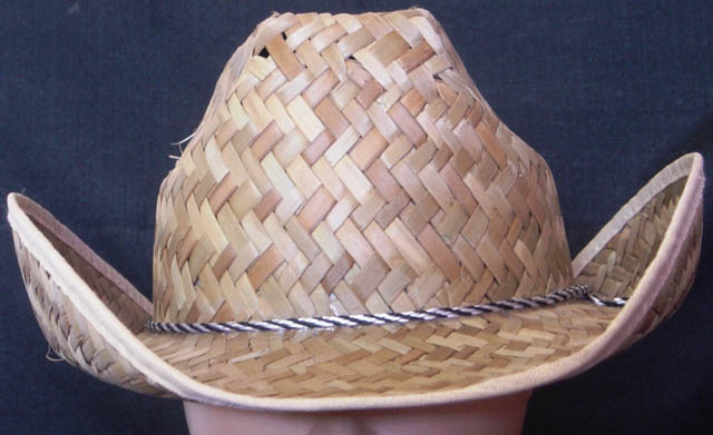 Cowboy Straw hat with cord band