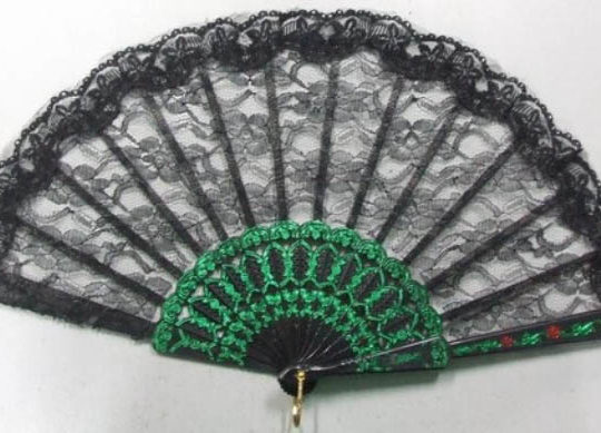 Material Fan - Black - 41cm * 23cm