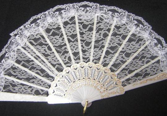 Fan - Lace - White