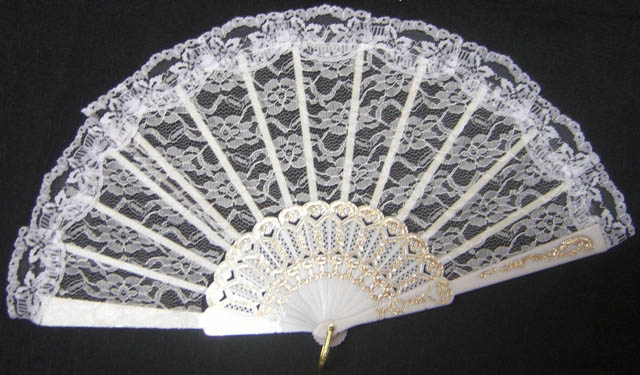 Fan - Lace - White