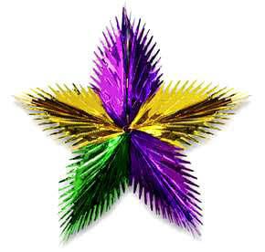 Gold/Green/Purple Starburst - 38cm