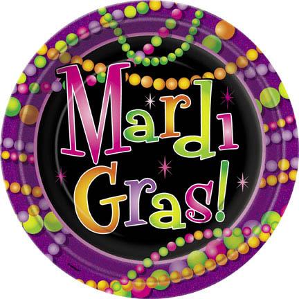 Mardi Gras Beads Plates