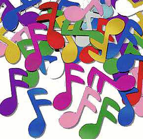 Disco Theme - Music Note Confetti