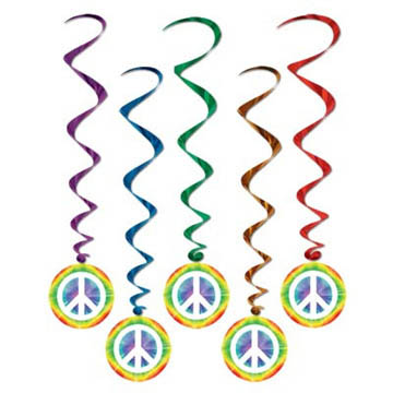 Hippie Theme - Peace Whirls