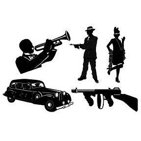 Gangster Silhouettes 51cm