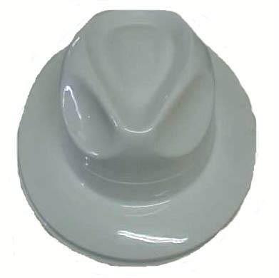 Trilby Hat - Plastic - White