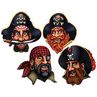 Pirate Crew Decoration - 40.6cm