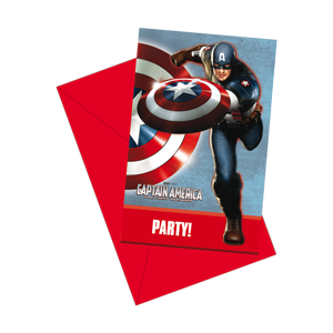 Captain America SALE iinvitations